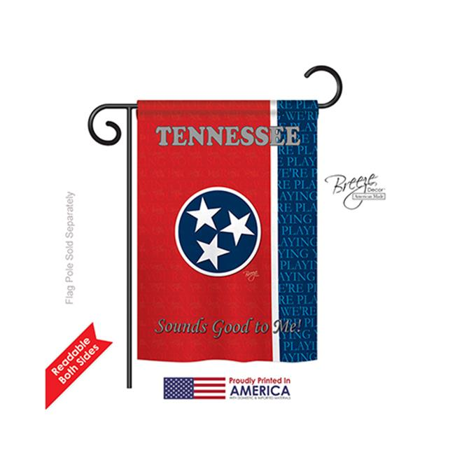 Breeze Decor 58130 States Tennessee 2-Sided Impression Garden Flag - 13 x 18.5 in. - image 1 de 1