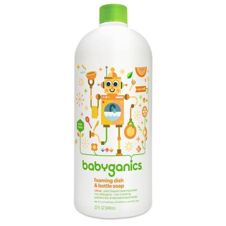 Babyganics Foaming Dish & Bottle Soap Refill, Citrus, 32 Fl Oz (Babyganics Dish)