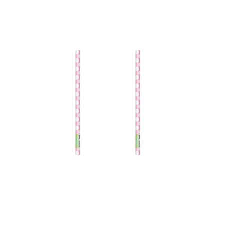(2 Pack) Light Pink Polka Dots Wrapping Paper