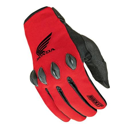 - Joe Rocket Honda Nation Mens Red/Black Textile Motorcycle Gloves