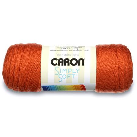 Caron Simply Soft Acrylic Pumpkin Yarn, 1 Each