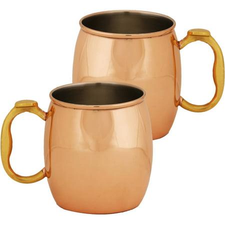 10 Strawberry Street 20 oz Copper Mug, Set of 2