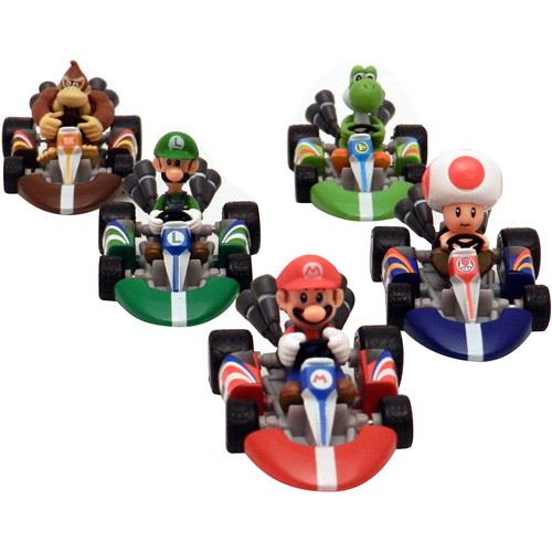 Mario Kart Mario Diecast Cars, Set of 5, Series 1