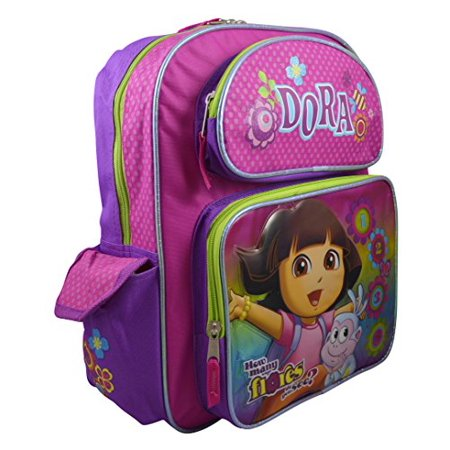 Nickelodeon Dora The Explorer Deluxe 16 School Backpack Bonus Coloring Book