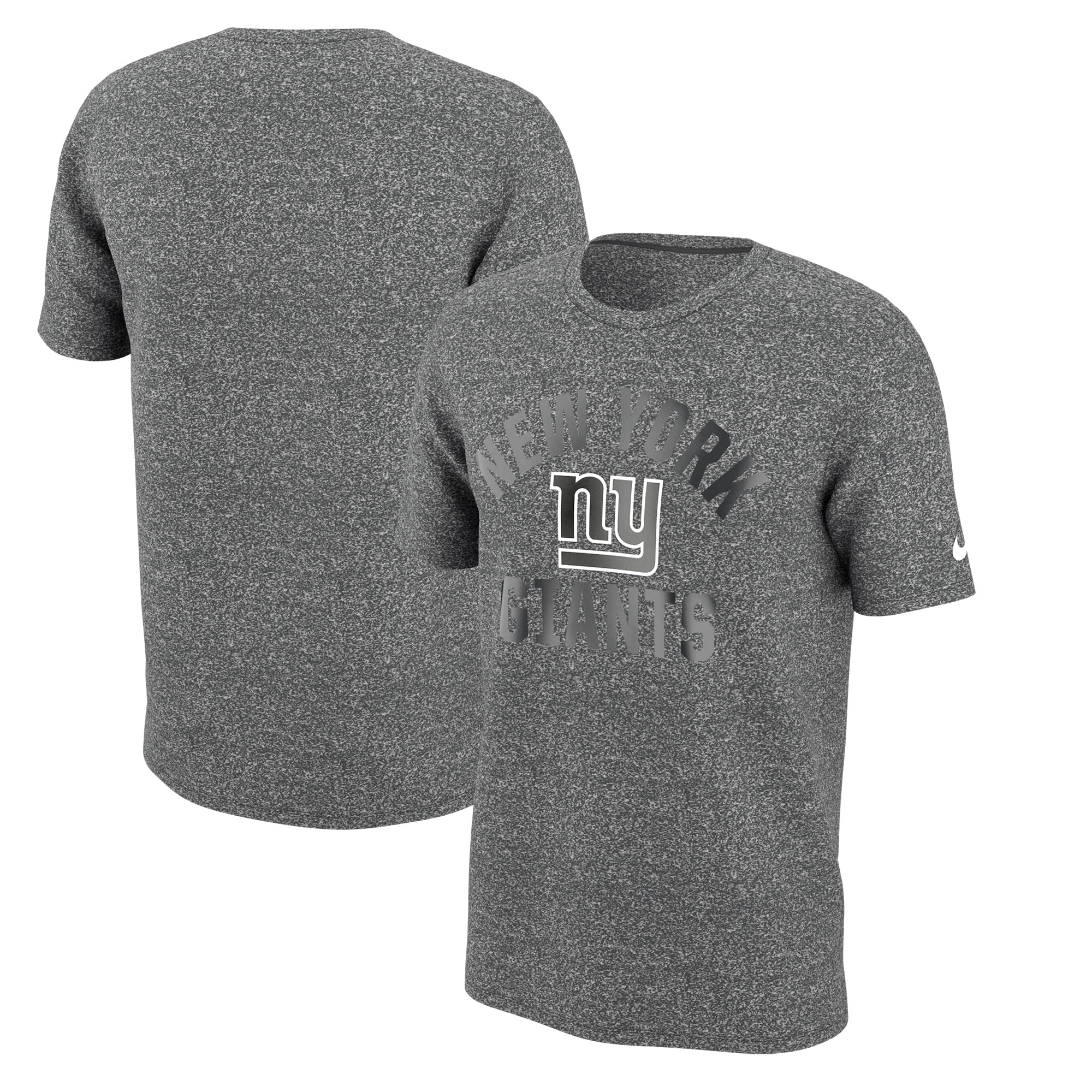 New York Giants Nike Marled Gym Reflective Arch T-Shirt - Heathered Charcoal