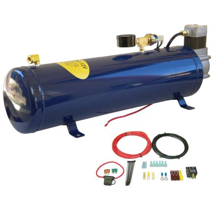 Truck Air Horn Kits - Onboard All-in-One Air Compressor System Kit for Truck Horn & Train Horn 130 PSI
