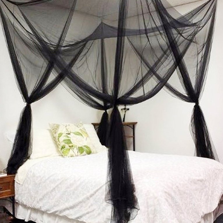 4 Corners Bed Canopy Insect Bed Netting Curtain Dome Mosquito Net Bed Net