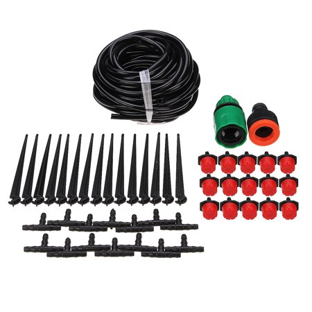 Micro Drip Irrigation System Sprinkler Plant Watering Irrigation Kit for Outdoor, Flower, Lawn, Patio, Garden ()