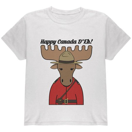Canada Day T-shirt (Happy Canada Day Moose Canadian Youth T Shirt)