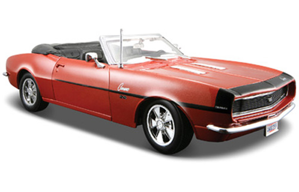 1968 Chevy Camaro SS 396 Convertible, Bronze Maisto 31257 1 24 Scale Diecast Model Toy Car by Maisto