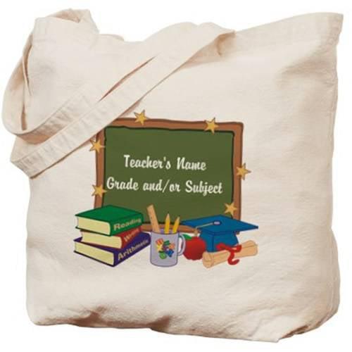Cafepress Personalized Custom Teacher Tote Bag