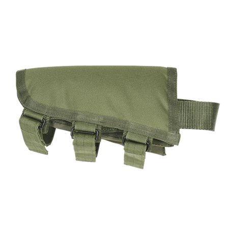 Voodoo Tactical Cheek Rest for Fixed Rifle Stocks, Olive - Thumbhole Rifle Stocks