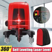 Professional AK435 360 Degree Self-leveling Cross Laser Level Meter Red 2 Line 1 Point