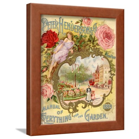 Manual Print - Peter Henderson and Co. Manual of Everything for the Garden Framed Print Wall Art