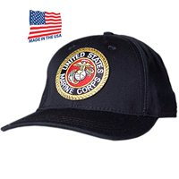 US Honor Made in USA Official Embroidered USMC Marines Logo Baseball Caps Hats