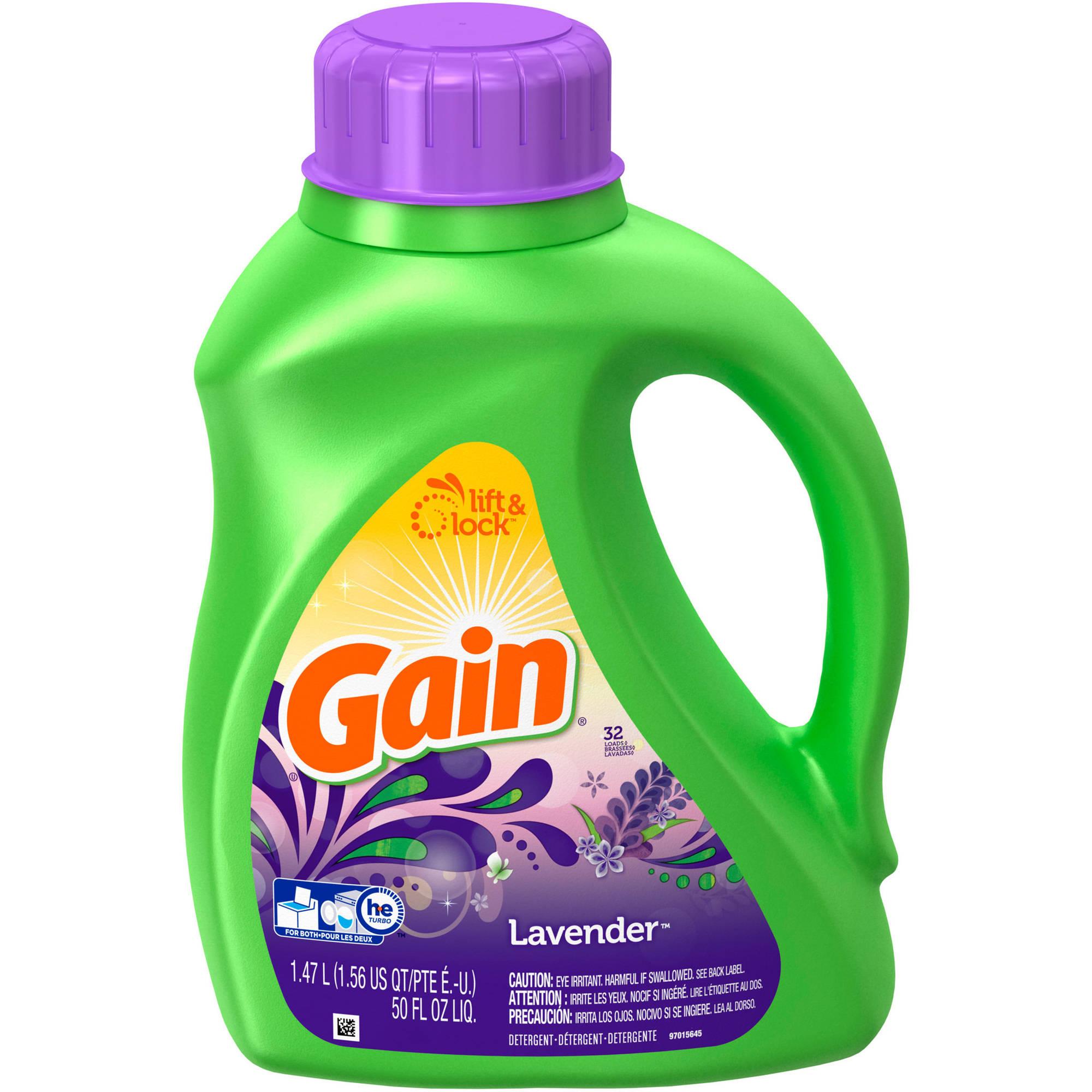 Gain Liquid Laundry Detergent, Lavender Scent, 32 loads, 50 fl oz