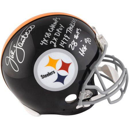 Jack Lambert Pittsburgh Steelers Autographed Riddell Throwback Pro-Line Helmet with Multiple Career Inscriptions - Fanatics Authentic -