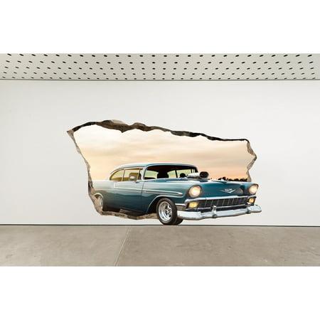 Startonight 3D Mural Wall Art Photo Decor American Muscle Car ...