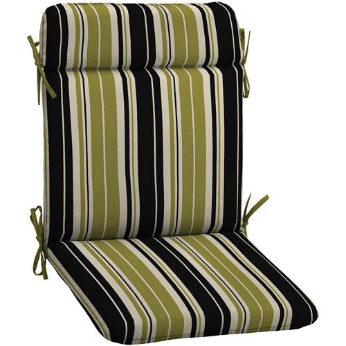 Better Homes and Gardens Outdoor Wrought Iron Chair Pad, Simple Stripe