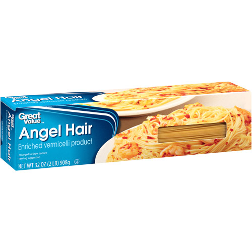 Great Value Angel Hair Pasta, 32 oz