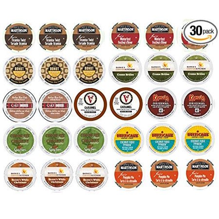Italy Italia World Cup - 30 Winter Variety K Cup Pack - Includes Santa's White Christmas, Italian Rum, Maple Sleigh, Winterfest, Tiramisu, Creme Brulee, Chocolate Mint and More