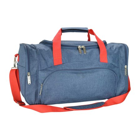 DALIX Signature Travel or Gym Duffle Bag in Navy Blue and Red Duke Blue Devils Gym Bag