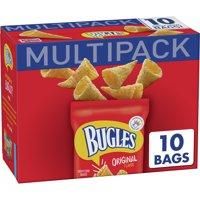 Bugles Original Crispy Corn Snacks 10 Bag Multipack