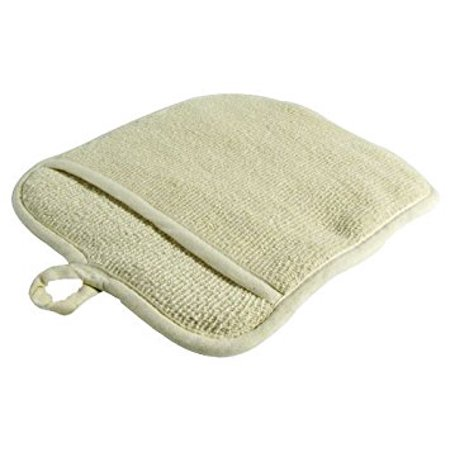 - Large Terry Cloth Pot Holders, w/Pocket, Potholders, Oven Mitts, Heat-resistant to 200, 9 x 8 Inches, Set of 3 - Beige Color