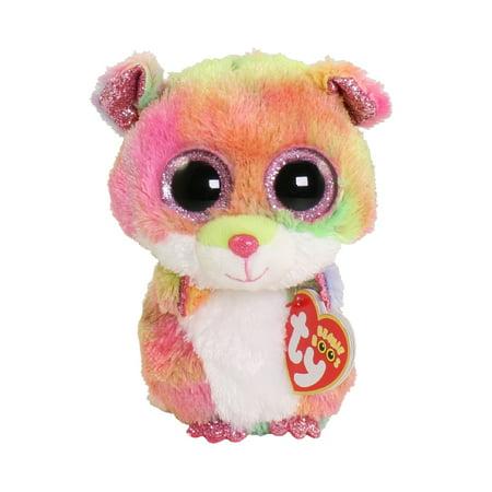 TY Beanie Boos - RODNEY the Hamster (Glitter Eyes) (Regular Size - 6 inch) Hamster Beanie Baby