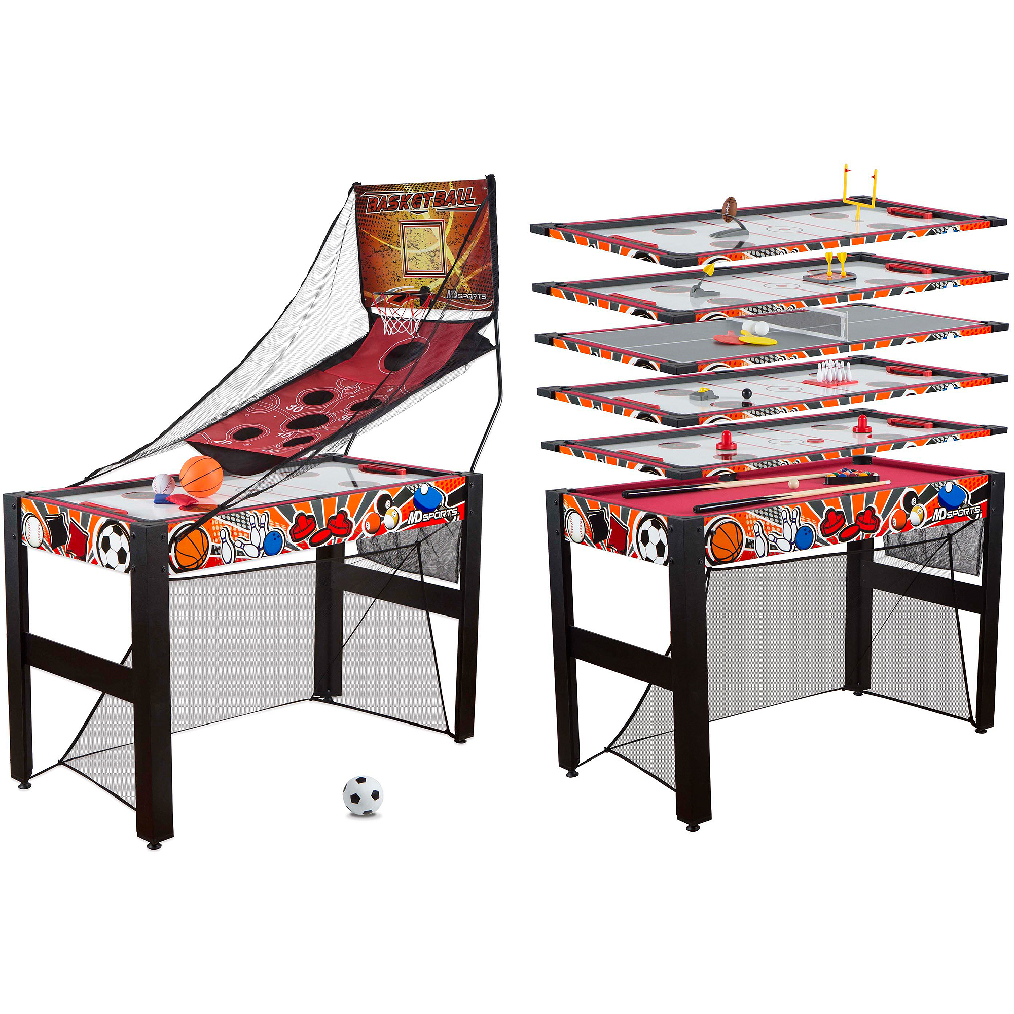 """Medal Sports 48"""" 10-in-1 Multi-Activity Game Table"""
