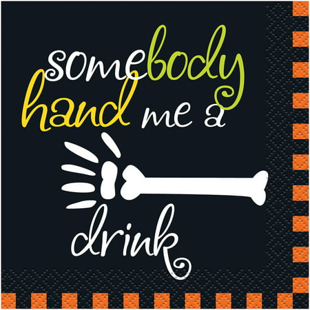 Hand Me a Drink Halloween Beverage Napkins, 16ct