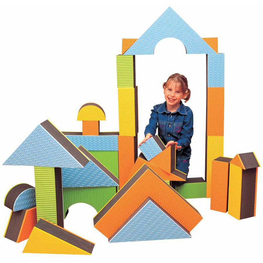 Edushape Jumbo Textured Block Set, Regular Thickness