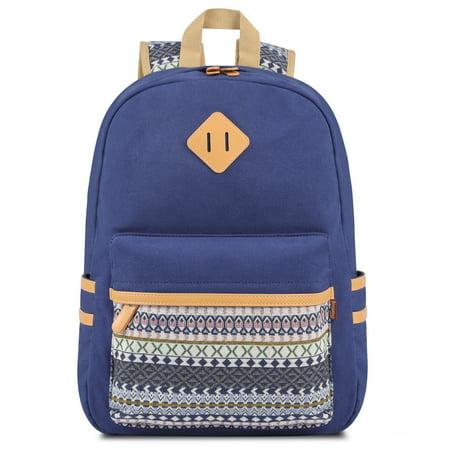 Plambag Teen Girls Backpack Cute, Lightweight Canvas School ...
