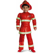 red fireman toddler muscle halloween costume by disguise - Fireman Halloween
