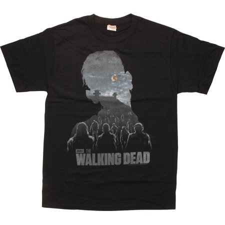 Walking Dead Zombie Silhouette Walkers T-Shirt - The Walking Dead Car Accessories