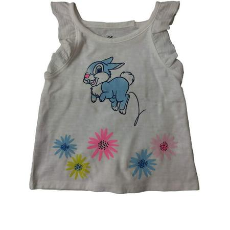 Infant & Toddler Girls Disney Bambi Thumper Bunny Rabbit Floral Flower Tee Shirt (Thumpers Girl Bunny)