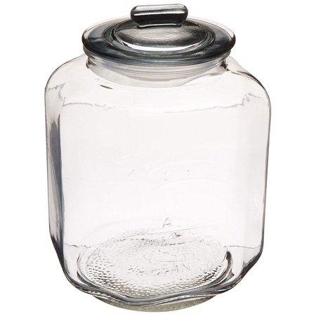 Grant Howard GH-50723 Vintage Glass Jumbo Snack Storage 7 Liter Jar with Lid