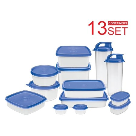 (I-FRESH Meal Prep Lunch Box Food Containers with Leak-Proof Lids - Bonus 2 Exclusive Sipping Cups - Reusable, Dishwasher, Microwave, Freezer Safe, BPA-Free (13 Piece Set))