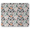 Indie Mouse Pad, Hipster Fashion Themed Pattern Clothing Accessories and Sketchy Art, Rectangle Non-Slip Rubber Mousepad, Seafoam Orange Black, by Ambesonne PRINTED MOUSE PAD - MEASUREMENTS: 9.25 INCHES Wide x 7.75 INCHES Long and 5mm thickness. EASY TO USE - Non-Slip rubber backing and smooth surface. Allows easy gliding EASY Maintenance - Easy to clean and durable. Excellent control and comfort. FEATURES - Vivid colors & Clear image. NO FADING - No dyes harming the health of your family. MODERN PRINTS - Printed with state of the art digital printing technology. Imported or Made in the USA. These fun and unique mousepads are made from high-quality eco - friendly cloth and the backing is made from non - slip neoprene rubber for the best control and comfort. Allows easy gliding of the mouse. You can use them with both normal and optical mouse. Colors won't fade thanks to new digital printing methods. A perfect gift idea for your mom, dad, sister, brother, grandma, wife, husband and all other beloved ones with many surprising designs. You can find a design for everybody and every interest in our collection. Customized, personalized products are very popular. As manufacturers of digitally printed design products, we follow current trends and bring you the latest most trend products. Either a gift to your family or friend, relative or boyfriend girlfriend, or to yourself, the item should be interesting and authentic. The digital images we display have the most accurate color possible, however, due to differences in computer monitors, we cannot be responsible for variations in color between the actual product and your screen.