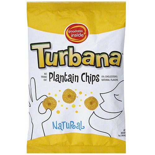 Turbana Plantain Natural Chips, 7 oz (Pack of 12)