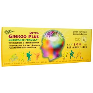 Prince of Peace, Ultra Ginkgo Plus, Endurance Formula, 30 Bottles x 0.34 fl oz (10 cc) Each (Pack of 1)