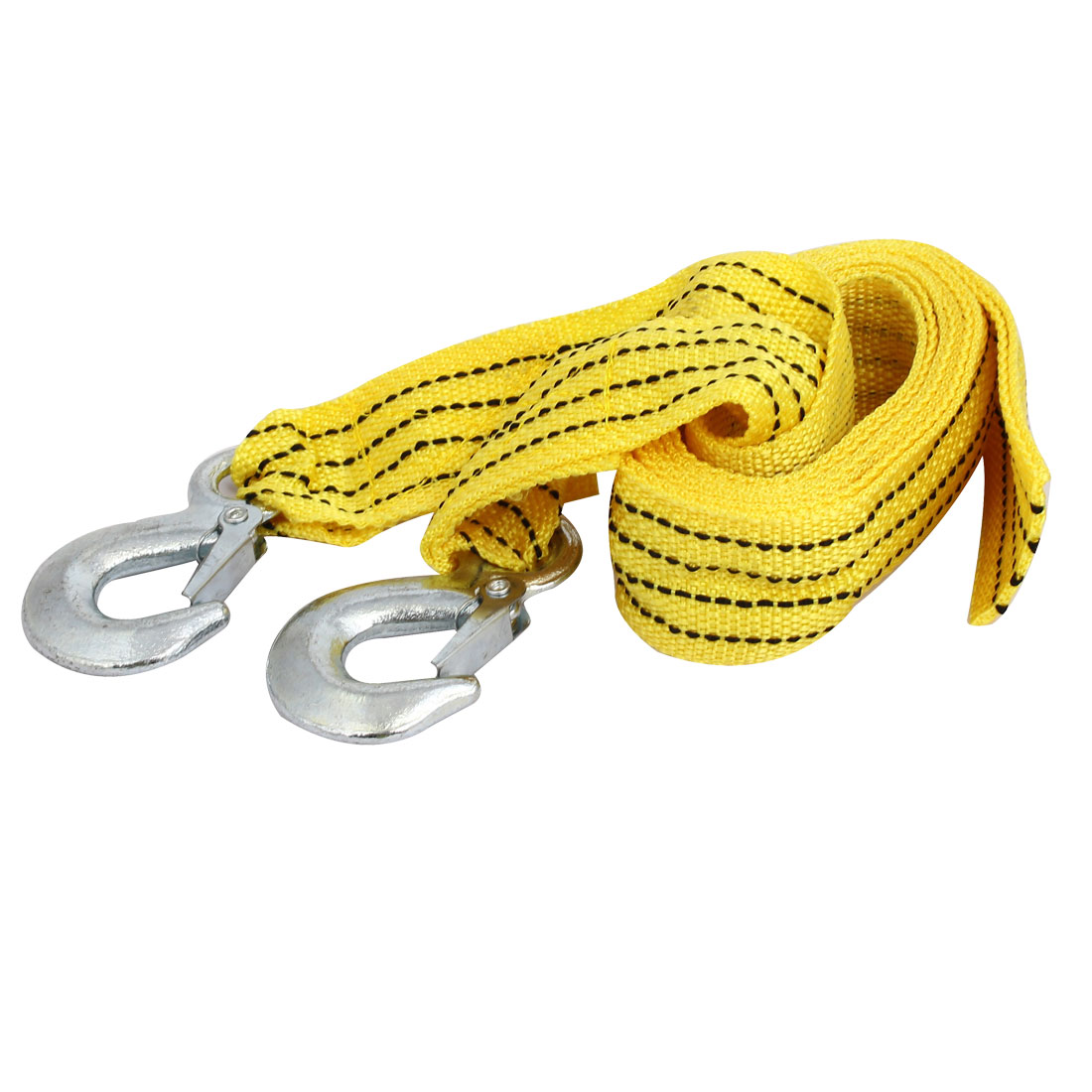 3 Meter 3 Ton Car Road Emergency Tow Cable Towing Pull Strap Rope Yellow