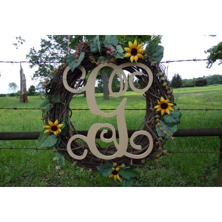 Wooden Monogram Vine Letter (G) Unfinished Craft Letter, Paintable DIY](Letter G Crafts)