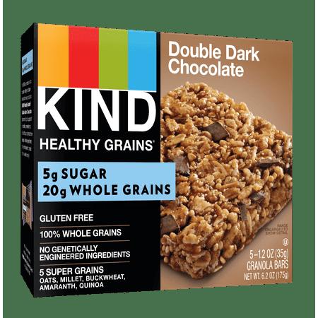 KIND Healthy Grains Granola Bar, Double Dark Chocolate, 5 ...