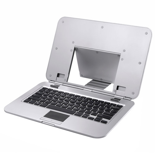 Image of 2COOL Sleek Stand with Keyboard, Silver