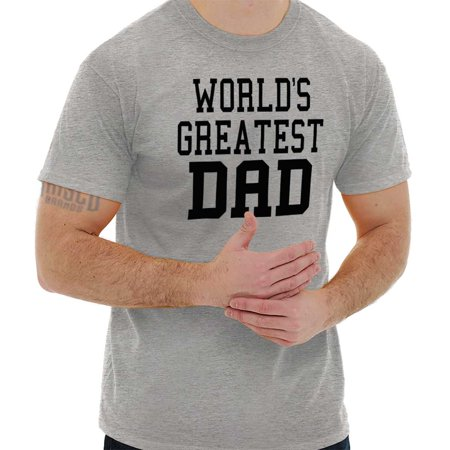 Brisco Brands Worlds Greatest Dad Fathers Day Mens Short Sleeve T-Shirt