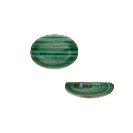 Oval Dome Semi-Precious Cabochon Stones Malachite 13x18mm 4pcs pack