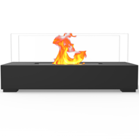 Regal Flame ET7005BLK Utopia Ventless Tabletop Bio Ethanol Fireplace in Black