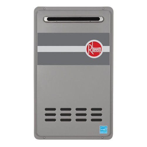 Rheem RTG-84XLN-1 Outdoor Tankless Natural Gas Water Heater for 2 - 3 Bathroom Homes