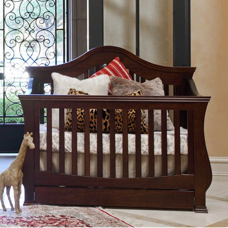 Dc Baby Cribs - Million Dollar Baby Ashbury 4-in-1 Convertible Crib with Toddler Rail